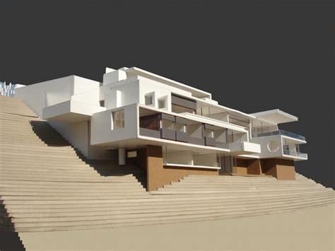 imagenes de maquetas minimalistas casa zaror de bendersky arquitectos en santiago de chile