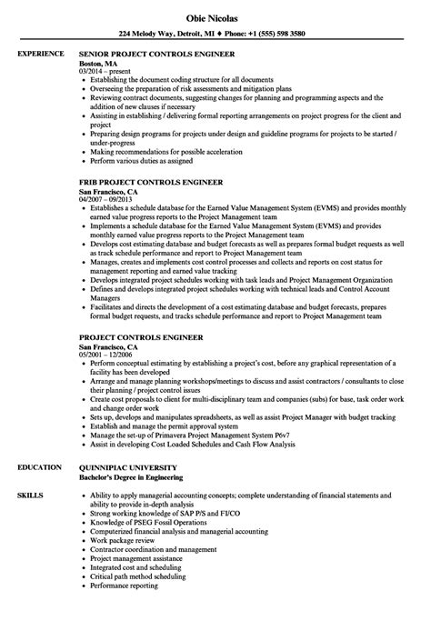 controls engineer government professional resume templates project controls engineer resume sles velvet