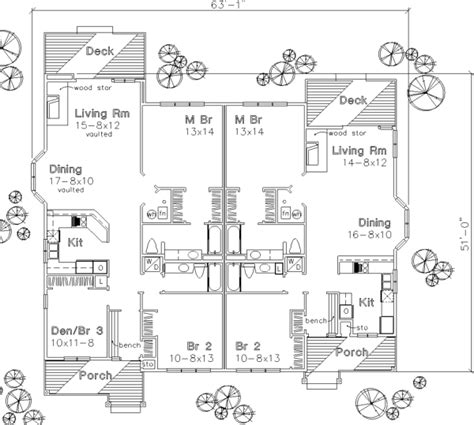 twin house plans the twin peaks 1671 3 bedrooms and 2 5 baths the house