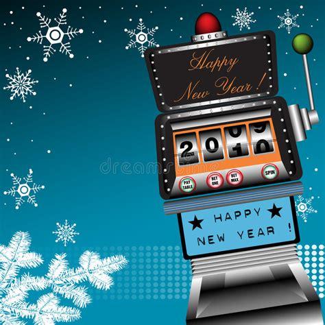 free happy new year machine happy new year slot machine stock image image 12268591