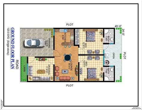 Two Bedroom Floor Plans by