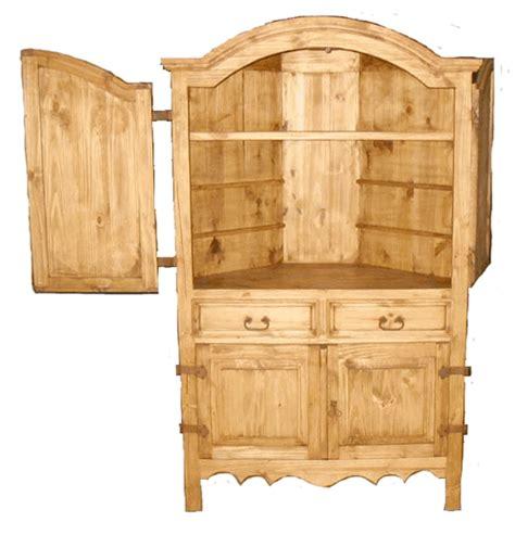 corner armoires san miguel rustic corner armoire