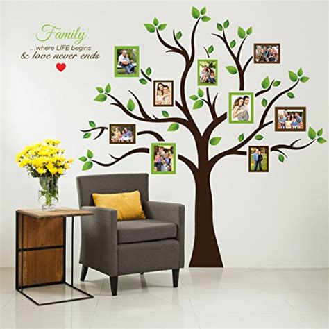 stick pictures to wall large family tree photo frames wall decal peel stick