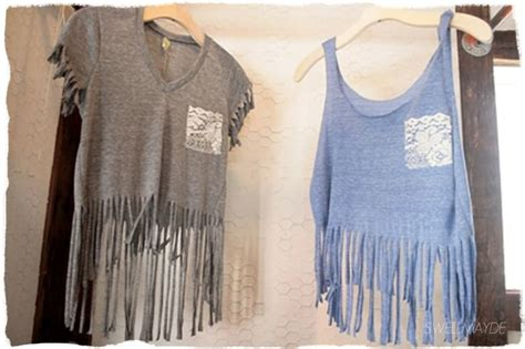how to make fringe shirts with upgrade your t shirts diy crop tops pretty designs