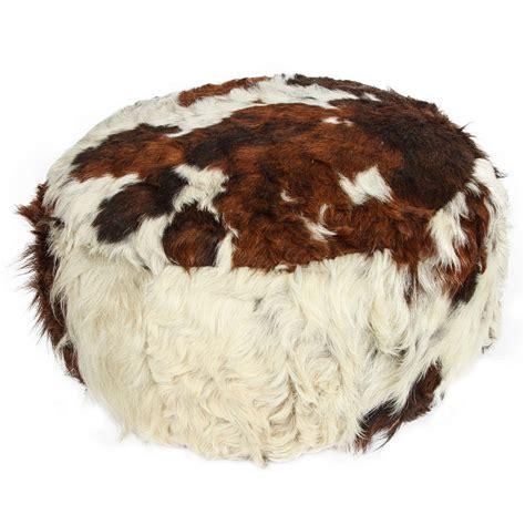 Cowhide Pouf cowhide leather pouf ottoman at 1stdibs