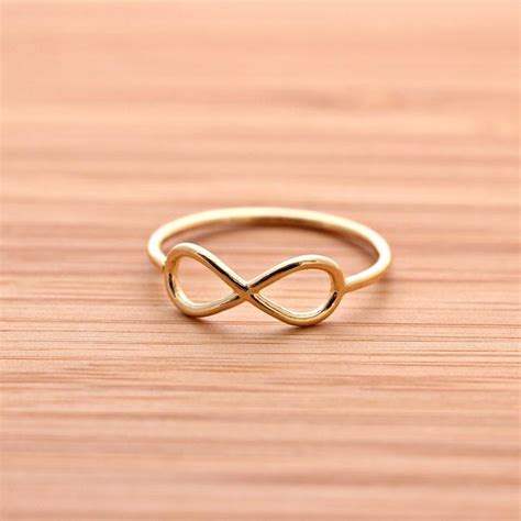 girlsluv it simple infinity ring in gold