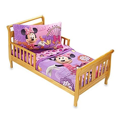 minnie mouse toddler bedding set buy crown crafts disney 174 minnie mouse quot fluttery friends quot 4