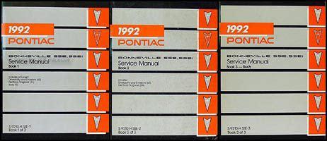 online car repair manuals free 1992 pontiac bonneville parental controls 1992 pontiac bonneville sse ssei repair shop manual original 3 volume set