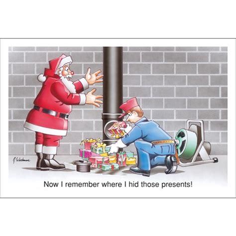 Santa Plumbing by Now I Remeber Where I Hid Those Presents Paul Oxman Publishing