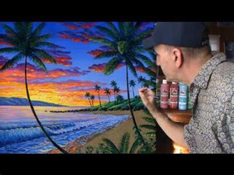 Détacher Peinture Acrylique by Peindre Plage Tropicale Coucher 3 3 Du Soleil Le 231 On De