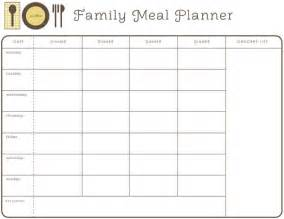 Monthly Food Menu Template by 28 Useful Printable Monthly Meal Planners Baby