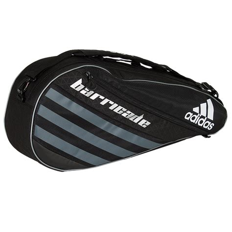 barricade iv tour 3 pack tennis bag black and silver