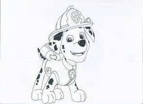 marshall paw patrol free colouring pages