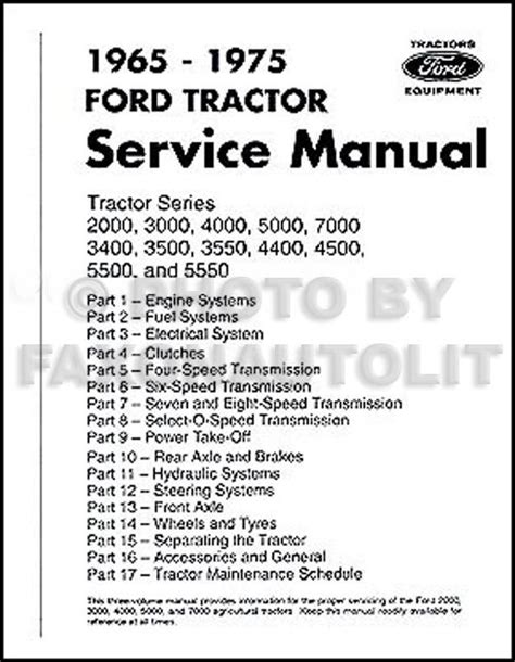 ford tractor repair shop manual          ebay
