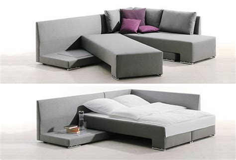 bed in a couch clever sofa bed system by die collection