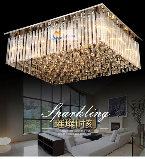 Ceiling Light For Large Living Room Aliexpress Buy Modern Big Luxury Ceiling Ls Hotel Villa Hanging Lighting Living