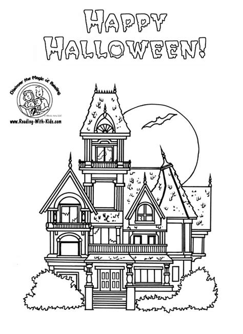 coloring pages of a haunted house halloween coloring pages halloween coloring pages haunted