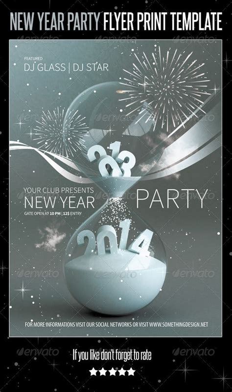 poster templates for photoshop cs6 2014 new year flyer print template v2 graphicriver 2014