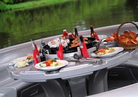 floating boat bbq bbq donut boat floating party and grill captivatist