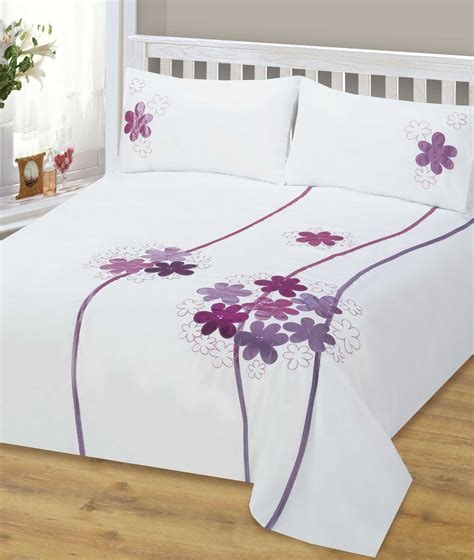 lavender purple colour stylish flower bedding quality