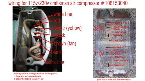 craftsman air compressor wiring diagram voltage conversion 106152781 craftsman crafts sears partsdirect