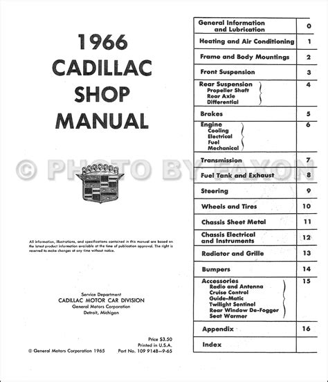 small engine repair manuals free download 1997 cadillac deville user handbook 1966 cadillac repair shop manual reprint
