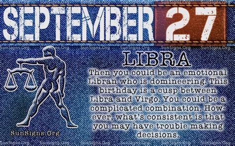 september 27 zodiac birthday horoscope personality sun signs