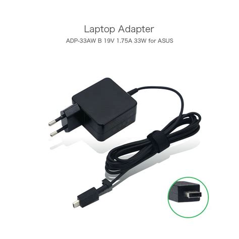 Asus Laptop Charger Europe 2016 new original 19v 1 75a 33w laptop usb charger for asus eeebook x205 e202sa e202sa3050 adp