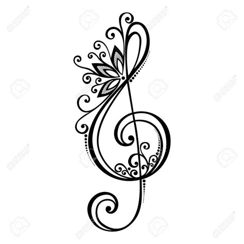 treble clef tattoo design floral treble clef tattoos search tattoos