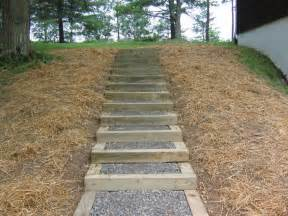 steps with landscape timbers wooden steps diy
