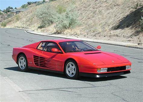 classic ferrari testarossa classic cars ferrari testarossa
