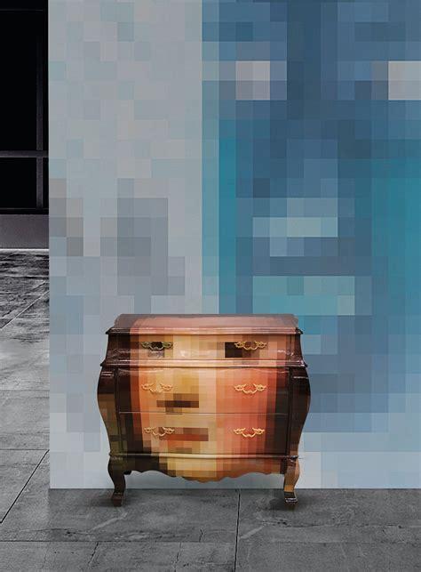 commode seletti commode the trip pixel multicolore seletti