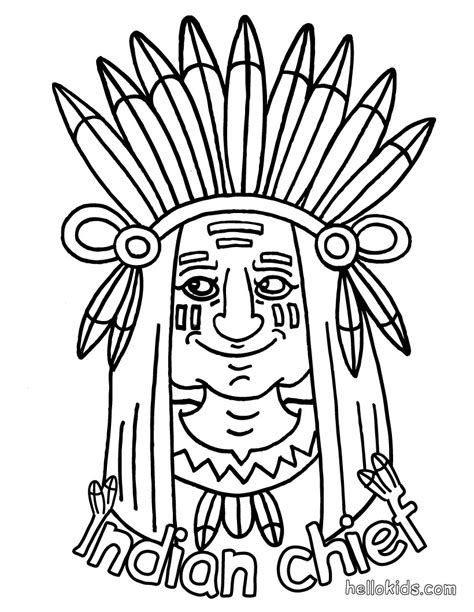 indian coloring pages hellokids com