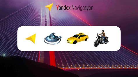 yandex navigasyonun  goestergeleri eglenceli ikonlarla