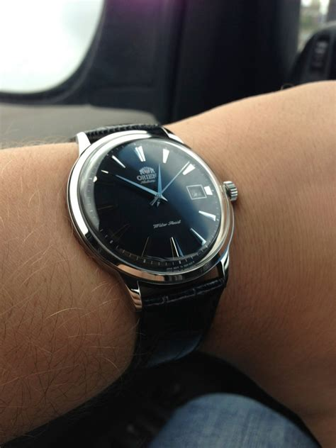 Jam Tangan Wanita Vintage Brown Blue T1310 6 orient bambino black automatic with leather