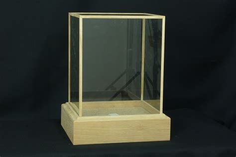 small glass display display case oak framed price per inch uk bird small