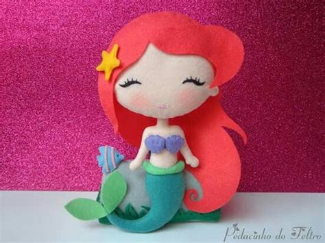 pattern for felt mermaid ariel felt mermaid idea handmade diy projects