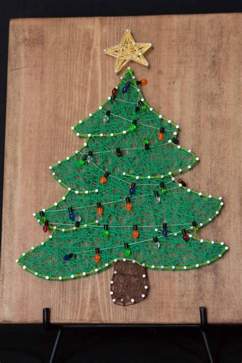 holiday string art christmas trees awesome and trees