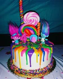 my daughter s trolls birthday cake 4 trolls