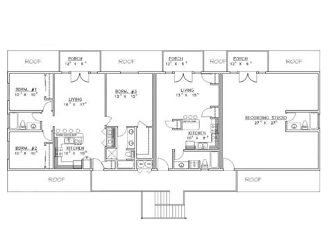 shop plans with living quarters outbuilding plans 9 stall horse barn with living