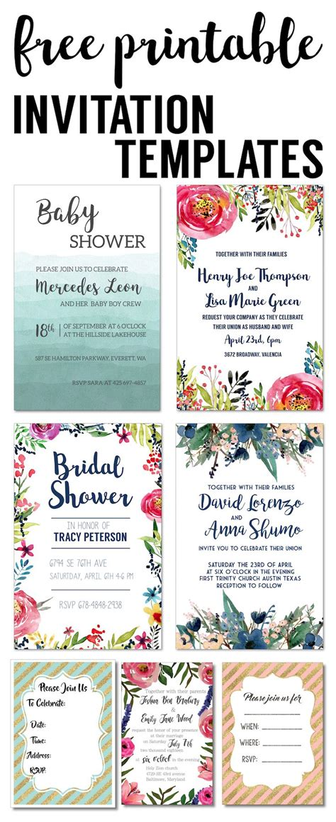 Best 25 Invitation Templates Ideas On Pinterest Birthday Invitation Templates Baby Shower Birthday Invitation Template