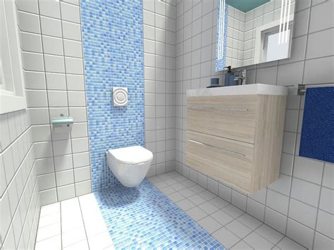 bathroom with mosaic tiles ideas 10 powder room ideas roomsketcher