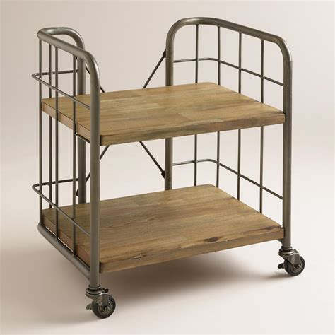 Small Storage Cart On Wheels Small Caiden Cart World Market