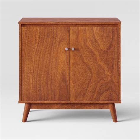 mid century cupboard 31 quot amherst mid century modern storage cabinet brown