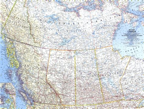 national geographic map of canada western canada map 1966 maps