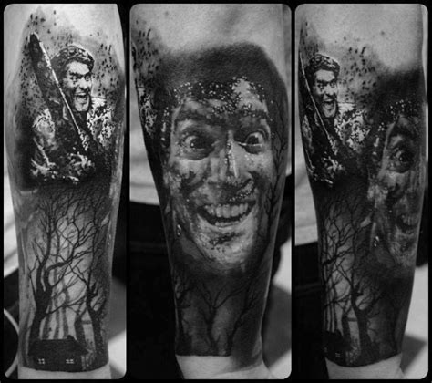 evil dead tattoo 70 evil dead designs for book of the dead ink