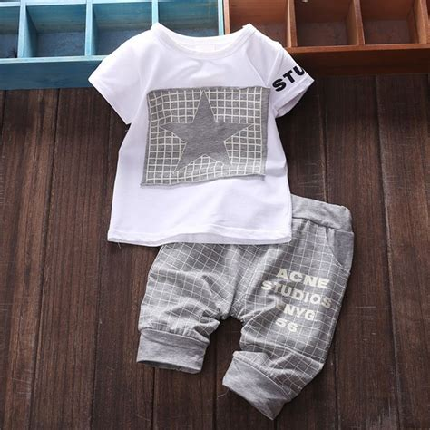 2pcs Baby Boy Clothes 2pcs cotton newborn baby infant boy clothes sets t shirt