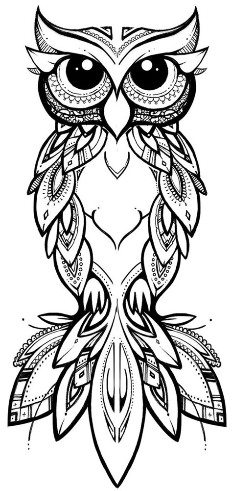 gambar tribal pattern owl eule abbildungen and design on pinterest
