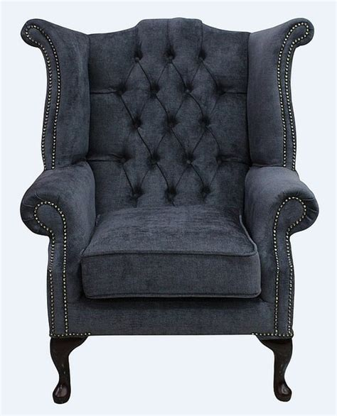 chesterfield armchair second hand grey fabric chesterfield high back chair designersofas4u