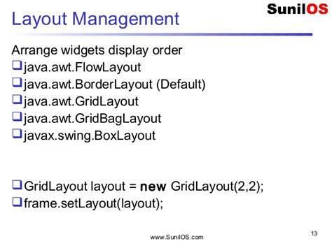layout manager in java awt pdf java swing jfc